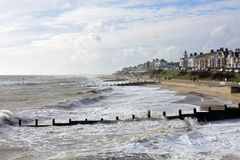 Rough Seas at Southwold, Suffolk, UK Stock Images