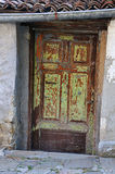 Rough Shabby Door Royalty Free Stock Photography