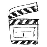 Rough sketch of a clap board. Simple rough sketch of a clap board Stock Images