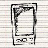 Rough sketch of a mobile phone Royalty Free Stock Photo