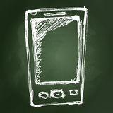 Rough sketch of a mobile phone Royalty Free Stock Photography