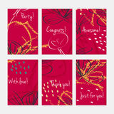 Rough sketched dandelion flowers and seeds on scribbles Royalty Free Stock Photos