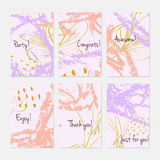Rough sketched dandelion flowers and seeds on scribbles Stock Photography