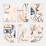 Rough sketched dandelion flowers and seeds on scribbles Royalty Free Stock Images