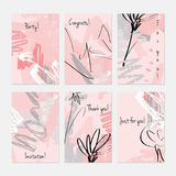 Rough sketched dandelion flowers and seeds on scribbles Stock Photos