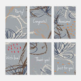Rough sketched dandelion flowers and seeds on scribbles Stock Photo