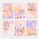 Rough sketched dandelion flowers and seeds on scribbles Stock Images