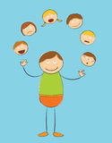 Rough stick figure - juggling people. Illustration of a rough stick figure - juggling people Royalty Free Stock Photography