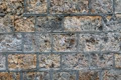 Rough stone block wall background Stock Image