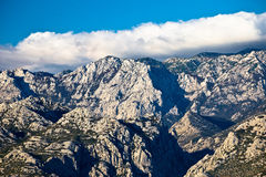 Rough stone desert Velebit mountain peak Royalty Free Stock Photo