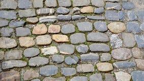 Rough stone floor texture close up horizontal Stock Photo