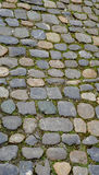 Rough stone floor texture close up vertical Stock Photography