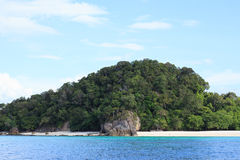 Rough stone island gorgeous Beach and tropical blue sea in Summer, Lipe Thailand Stock Image