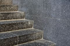Rough stone steps in closeup Royalty Free Stock Images