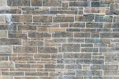 Rough stone wall. Wall of hand hewn rough stone, Halifax, Nova Scotia, Canada Stock Photo