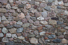Rough stone wall surface texture Royalty Free Stock Photos