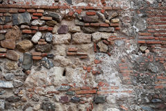Rough stone wall surface texture background Stock Photography