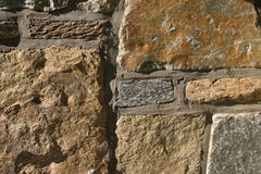 Rough stones. Natural stone wall stock photography