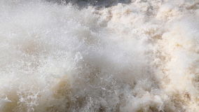 Rough stream. Of water discharge at a dam stock footage