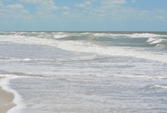 Rough surf at Indian Rocks Beach on the Gulf of Mexico in Florida. Royalty Free Stock Photos