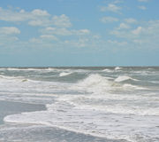 Rough surf at Indian Rocks Beach on the Gulf of Mexico in Florida. Stock Photography