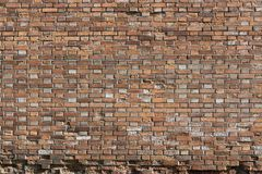Rough surface of an old brick wall Stock Images