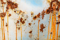 The rough surface of rusty metal. Pattern of a rough surface of rusty metal Royalty Free Stock Photo