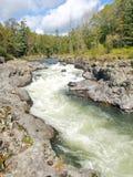 Rough taiga river Stock Photos