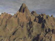 Rough Terrain. Rendered rough mountains Stock Photos