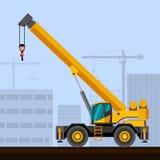 Rough terrain crane Stock Image