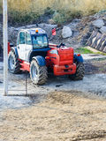 Rough terrain forklift machine telehandler Stock Photo