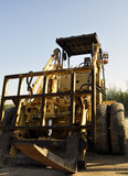 Used Rough Terrain Forklifts with blue sky Royalty Free Stock Image