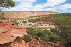 Rough Terrain at Kalbarri National Park Royalty Free Stock Photo