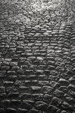 Rough texture of block pavement Royalty Free Stock Photos