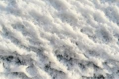 Rough texture bumpy snow Stock Photos