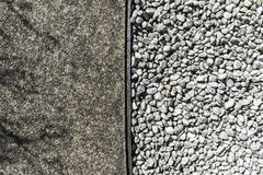 Rough texture cement and white stone Stock Photography