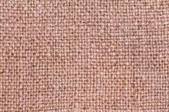 Rough texture of jute burlap fabric Stock Photos