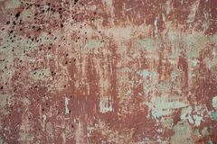 Rough textured background red old cement wall with Royalty Free Stock Photo