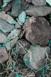 Rough textured rigid geographical rocks stock photography