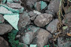 Rough textured rigid geographical rocks royalty free stock photo