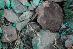 Rough textured rigid geographical rocks royalty free stock photos