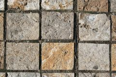Rough Tile. Rough stone tile, possibly granite, used in outdoor landscaping Stock Photography