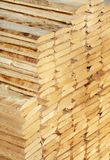 Rough timber. Stacked. Short depth-of-field Stock Photos