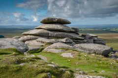 Rough Tor on Bodmin Moor stock images