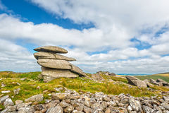Rough Tor in Bodmin Moor. Rough Tor is one of the highest peaks in Bodmin Moor Stock Photos