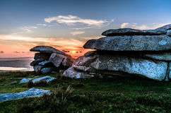 Rough Tor Sunset Royalty Free Stock Images