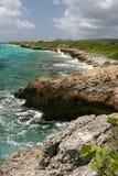 Rough tropical coastline. Of island of Bonaire Stock Image