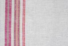 Rough Ukrainian linen cloth Royalty Free Stock Images