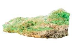 Rough uncut emerald Stock Photo