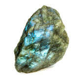 Rough uncut labradorite gemstone Stock Photography